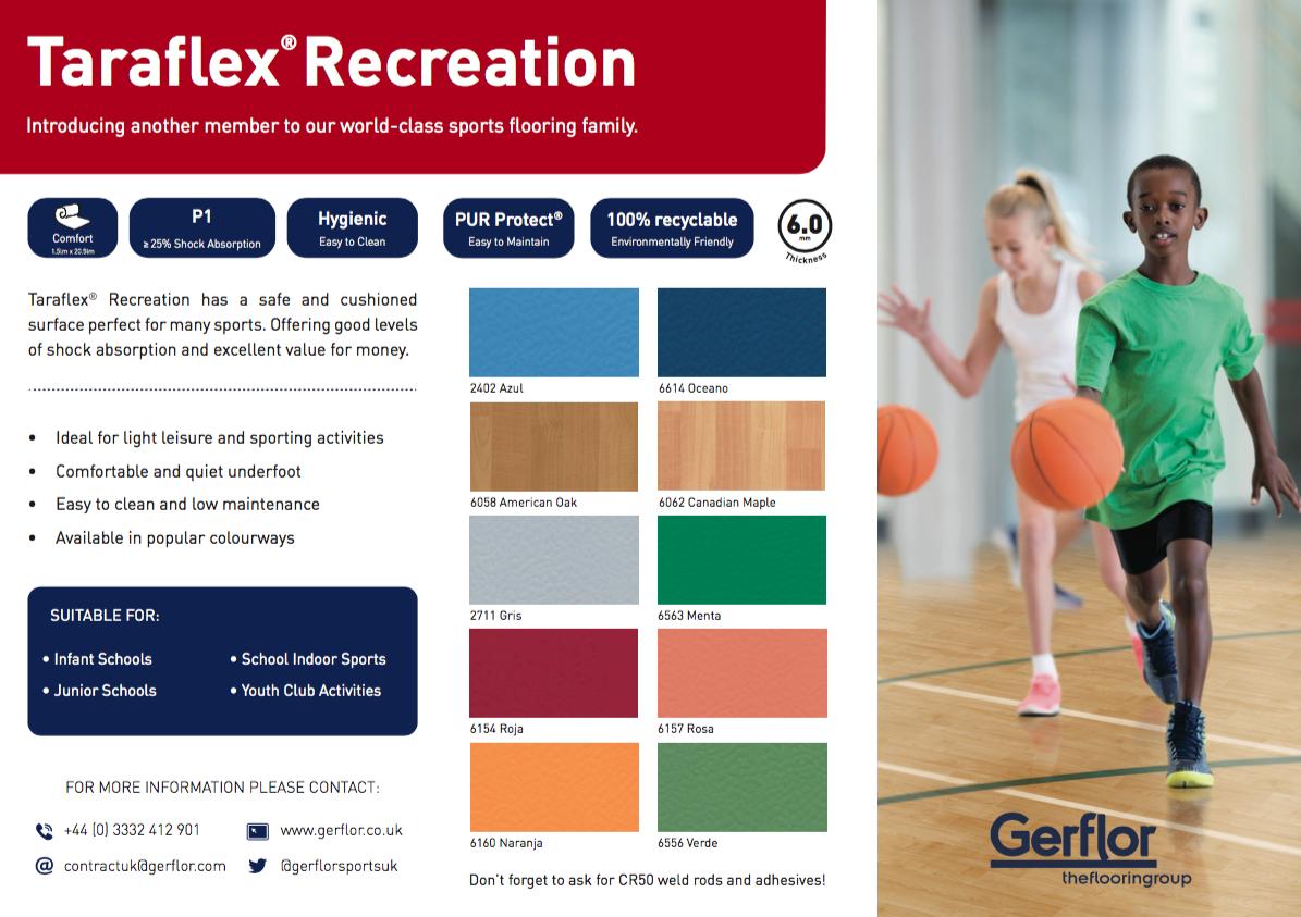 Taraflex-Recreation Brochure Cover